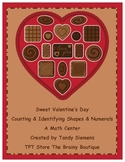 Sweet Valentine's Day Math Counting & Identifying Shapes & Numbers