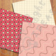 Sweet Valentines Digital Papers / Valentines Backgrounds / Hearts Digital Papers