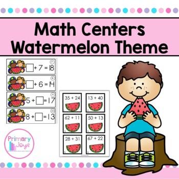 Math Centers - Watermelon Edition