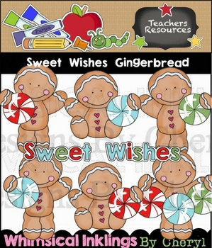 Sweet Wishes Gingerbread Clipart Collection