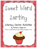 Sweet Word Sorting Literacy Center Activities