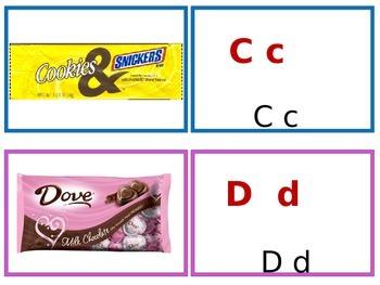 Sweet alphabet matching cards