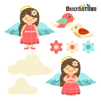 Sweet and Cute Angel Clip Art - Great for Art Class Projects!
