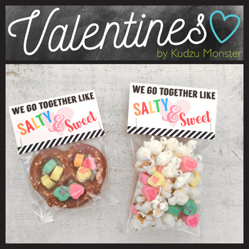 Sweet and Salty Valentine Treat Topper