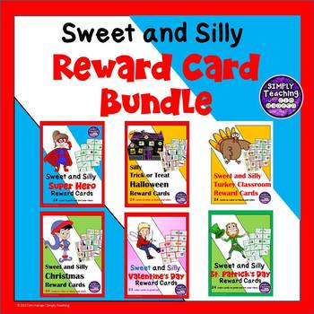 Sweet and Silly Classroom Reward Card Coupons Bundle