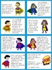 Sweet and Silly Super Hero Classroom Reward Cards/Coupons