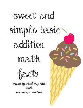 Sweet and Simple: Basic Addition Math Facts