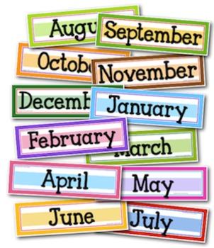 Sweet and Simple Calendar Headers