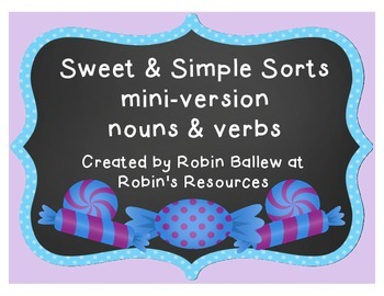 Nouns and Verbs: Sweet and Simple Sorts