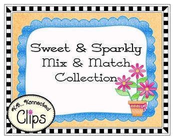 Sweet and Sparkly Potted Flowers and Frames