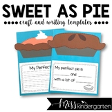 Fall Craft Sweet as Pie Craft and Writing Templates