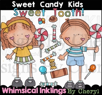 Sweet candy Kids Clipart Collection