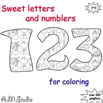Sweet letters for coloring