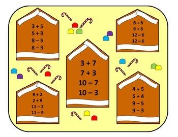 Sweet on Fact Families 8-12: File Folder Activity