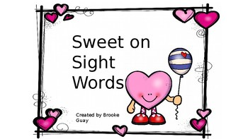 Sweet on Sight Words