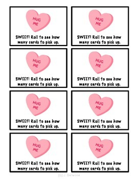 Valentine's Day Fluency with Prefixes Game