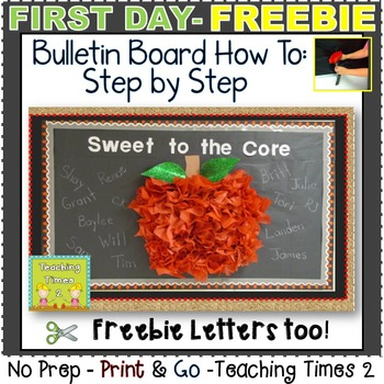 """Apple Tissue Paper Bulletin Board  ~*~ """"How To"""" and """"Letters""""  Freebie ~*~"""
