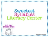 Sweetest Syllables Literacy Center Activity