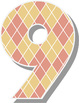 "Sweetheart Argyle Alphabet - 24 12 x 12"" Digital Papers -"