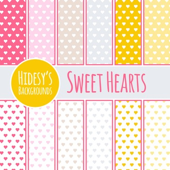 Sweetheart Backgrounds / Digital Papers / Patterns Clip Art Commercial Use