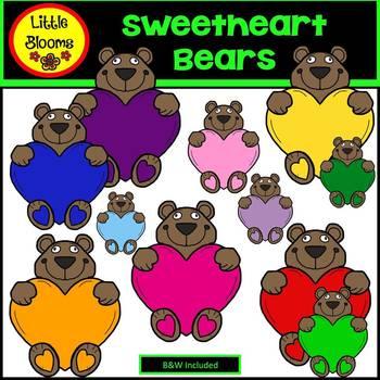 Sweetheart Bears Clip Art (FREEBIE!)