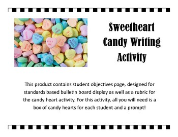 Sweetheart Candy Story Activity - Valentine's Day