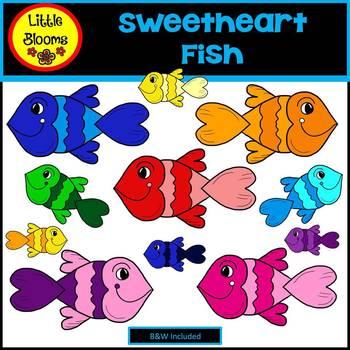 Sweetheart Fish Clip Art (FREEBIE!)