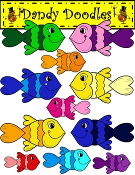 Sweetheart Fish  Clip Art by Dandy Doodles