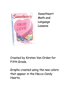 Valentine Sweetheart Candy Graphing and Language Arts