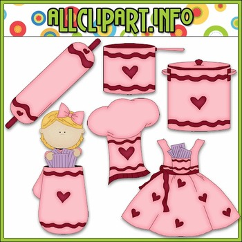BUNDLED SET - Sweetheart Kitchen Clip Art & Digital Stamp Bundle - Alice Smith