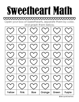 Valentine's Day Sweetheart Math (Graphing and Adding)