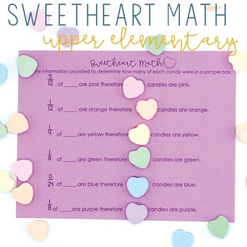 Sweetheart Math- Multiplying Fractions