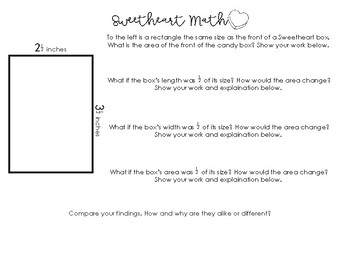 Sweetheart Math: A Valentines Day Upper Elementary Math Activity