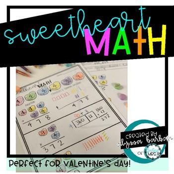 Sweetheart Math Valentine Activity