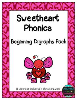 Sweetheart Phonics: Beginning Digraphs Pack