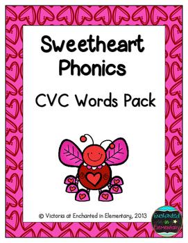 Sweetheart Phonics: CVC Words Pack