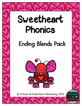 Sweetheart Phonics: Ending Blends Pack