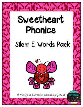 Sweetheart Phonics: Silent E Words Pack