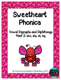 Sweetheart Phonics: Vowel Digraphs and Diphthongs Pack 2: aw, au, oi, oy