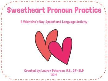 Sweetheart Pronoun Practice