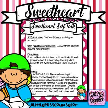 Sweetheart Self Talk Conversation Hearts Activity