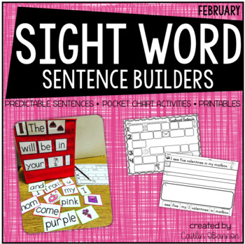 Sweetheart Sentences {Sentence Building Activities for February}
