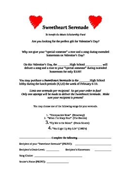 Sweetheart Serenade for Valentine's Day Music Fundraiser I