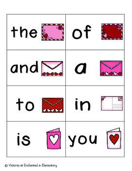 Sweetheart Sight Words! Fry List 1