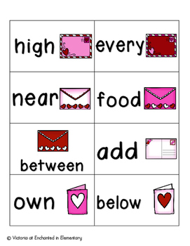 Sweetheart Sight Words! Fry List 3