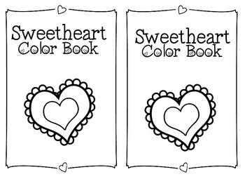 Valentine Themed Sweetheart Color Word Book