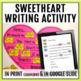 Sweetheart Valentine Writing Activity
