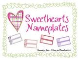Sweethearts Nameplates / Wordstrips