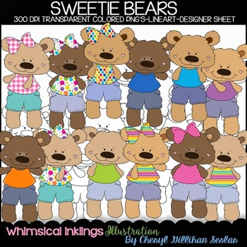 Sweetie Bears Clipart Collection