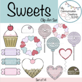 Sweets Clip-Art For Valentine's Day - Set of 14 Images